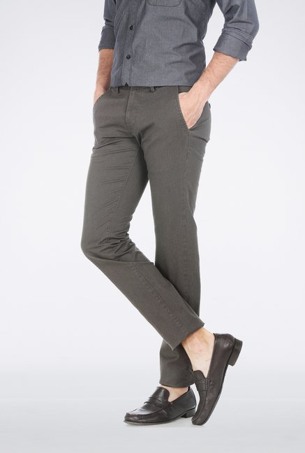 Basics Brown Houndstooth Trouser