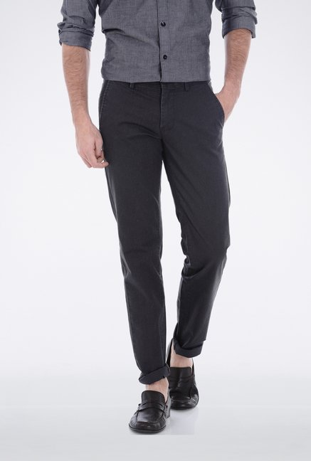 Basics Grey Houndstooth Trouser