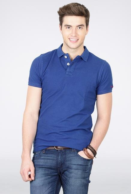Basics Blue Polo T-Shirt
