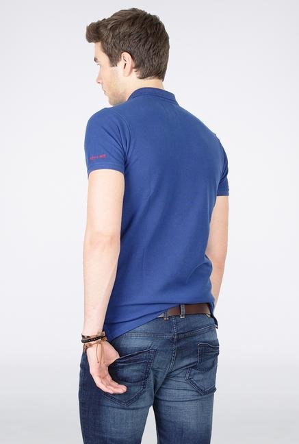 Basics Blue Polo T Shirt