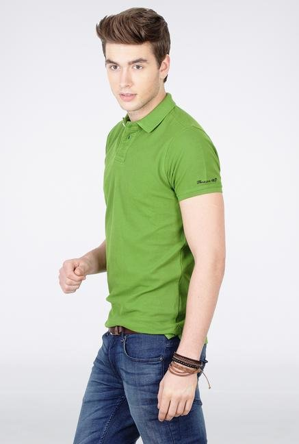 Basics Green Polo T Shirt
