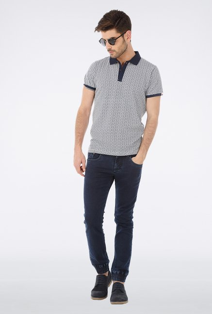 Basics Light Grey Polo T Shirt