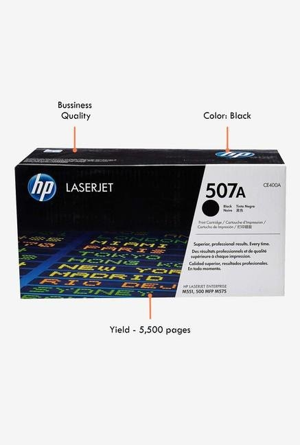 HP 507A LaserJet CE400A Toner Cartridge Black