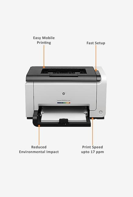 HP LaserJet Pro CP1025nw Laser Printer (White)