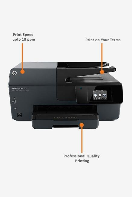 HP OfficeJet Pro 6830 AIO Printer Grey