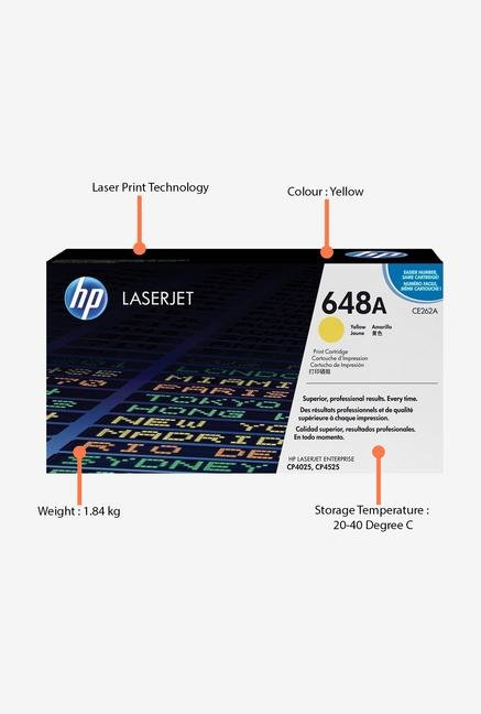 HP 648A LaserJet CE262A Toner Cartridge Yellow