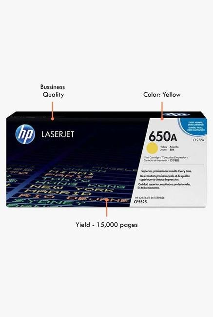 HP 650A LaserJet CE272A Toner Cartridge Yellow