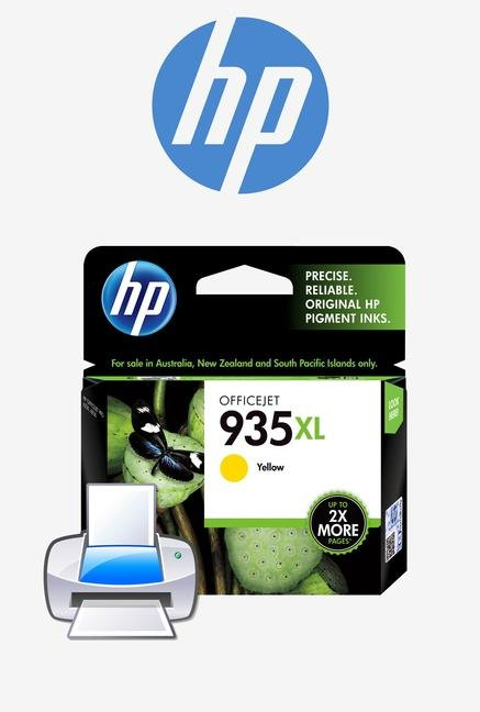 HP 935XL High Yield C2P26AA Ink Cartridge Yellow