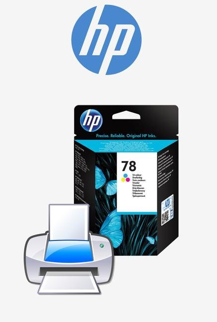 HP 78 C6578DA Ink Cartridge Tri-color