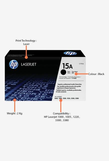 HP 15A LaserJet C7115A Toner Cartridge Black