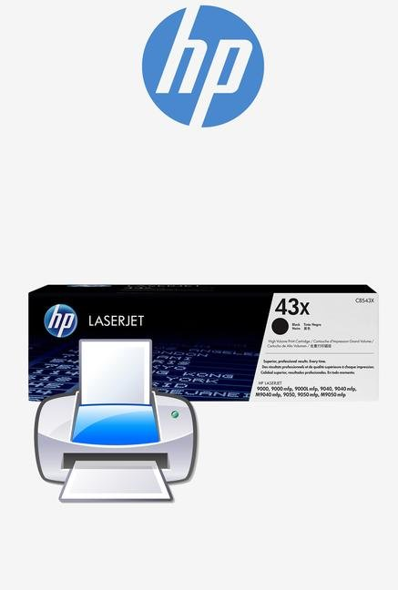 HP 43X LaserJet C8543X Toner Cartridge Black