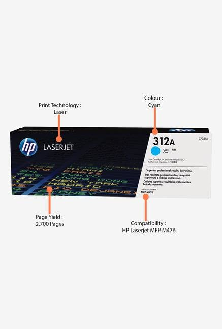 HP 312A LaserJet CF381A Toner Cartridge Cyan