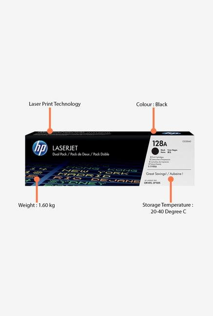 HP 128A 2-Pack LaserJet CE320AD Toner Cartridge Black