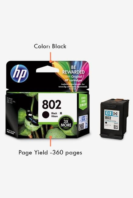 HP 802 CH563ZZ Ink Cartridge Black