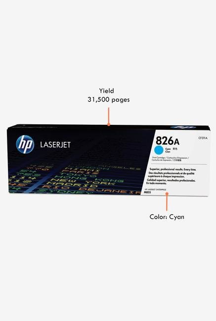 HP 826A LaserJet CF311A Toner Cartridge Cyan