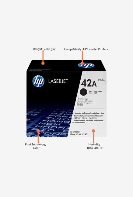 HP 42A LaserJet Q5942A Toner Cartridge Black