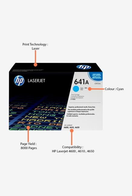 HP 641A LaserJet C9721A Toner Cartridge Cyan