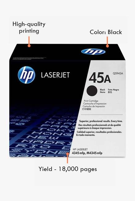 HP 45A LaserJet Q5945A Toner Cartridge Black