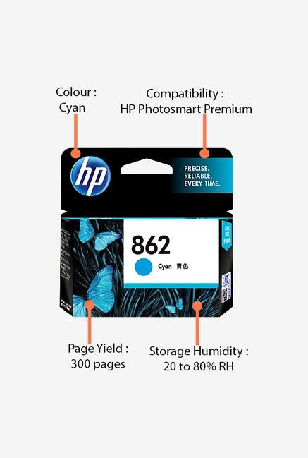 HP 862 CB318ZZ Ink Cartridge Cyan