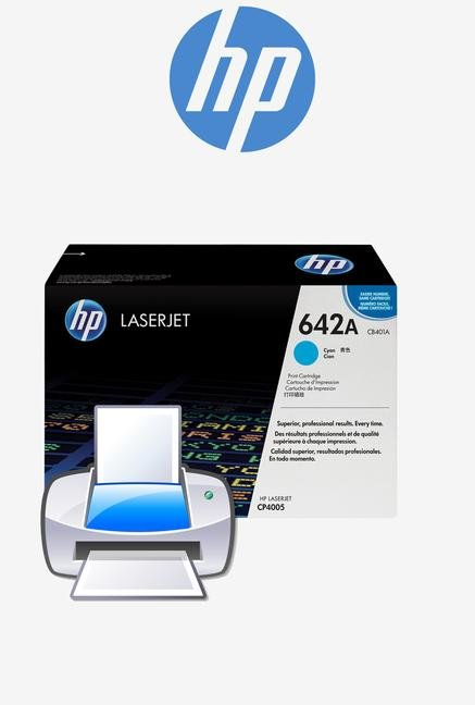 HP 642A LaserJet CB401A Toner Cartridge Cyan