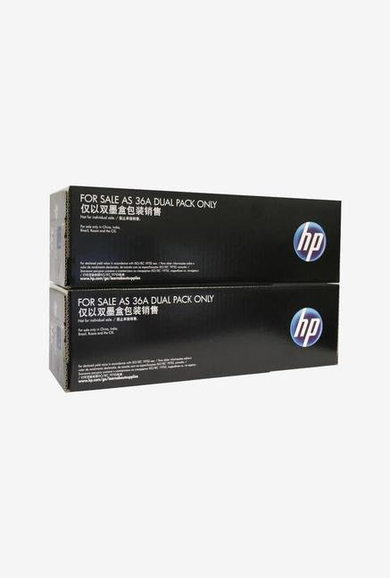 HP 36A 2-Pack LaserJet CB436AF Toner Cartridge Black