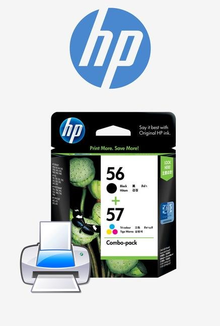 HP 56/57 2-Pack CC629AA Ink Cartridge Black and Tri-color