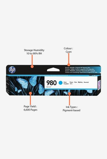 HP 980 D8J07A Ink Cartridge Cyan