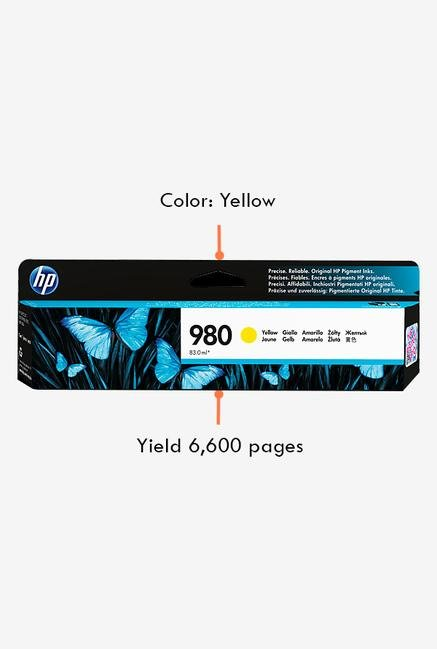 HP 980 D8J09A Ink Cartridge Yellow