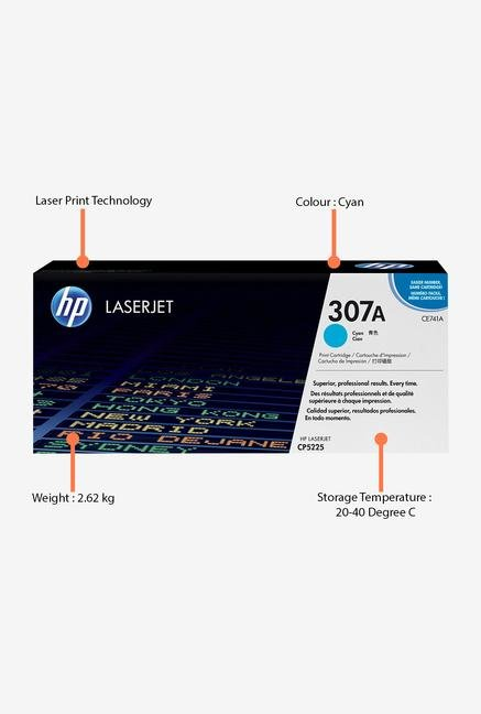 HP 307A LaserJet CE741A Toner Cartridge Cyan
