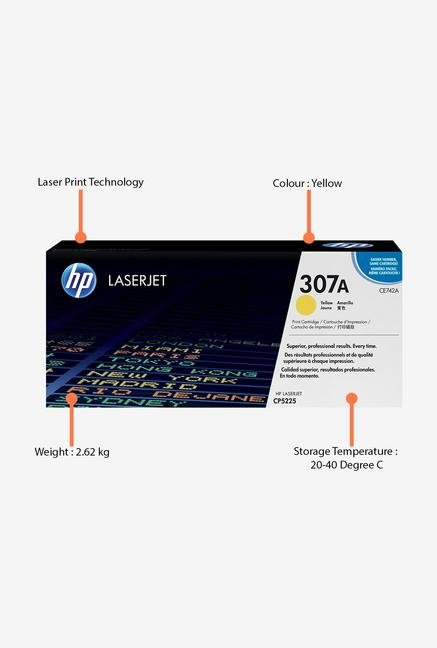 HP 307A LaserJet CE742A Toner Cartridge Yellow