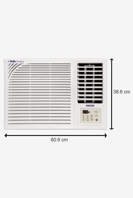 Voltas 122 PYa 1 Ton 2 Star (2017) Window AC Copper (White)