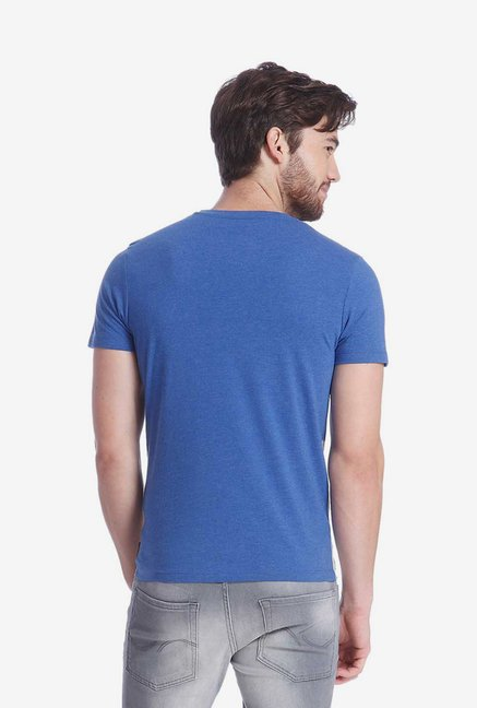 Jack & Jones Blue Printed T Shirt
