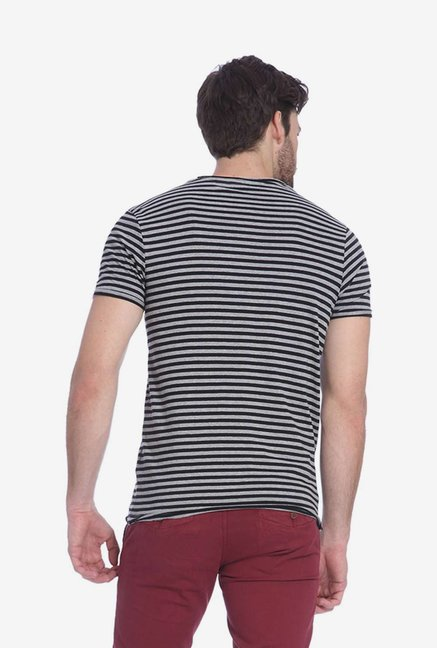 Jack & Jones Grey Striped T Shirt