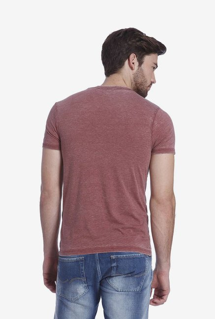 Jack & Jones Maroon Graphic T Shirt