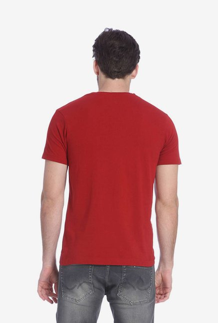 Jack & Jones Red Graphic T Shirt
