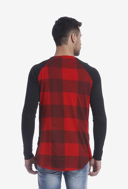 Jack & Jones Red Checked T Shirt