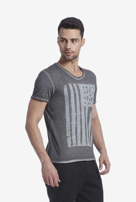 Jack & Jones Dark Grey Graphic T Shirt