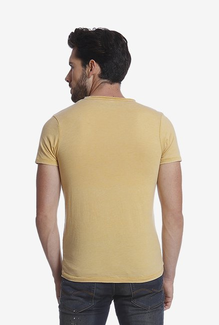 Jack & Jones Yellow Graphic T Shirt
