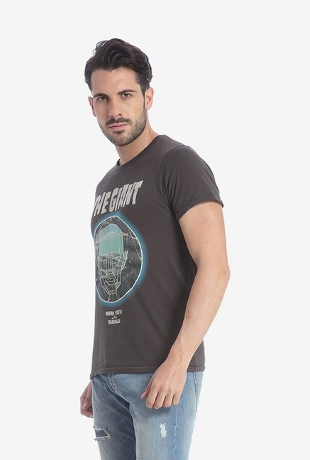 Jack & Jones Dark Brown Graphic T Shirt
