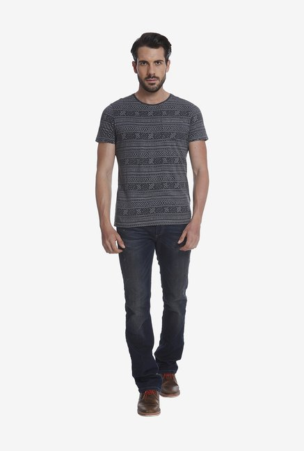 Jack & Jones Black Print T Shirt