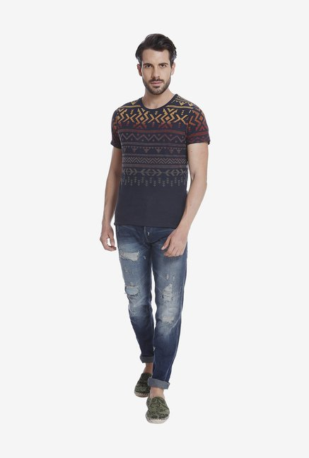 Jack & Jones Multicolor Print T Shirt