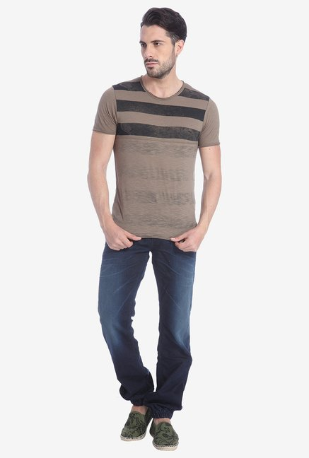 Jack & Jones Walnut Striped T Shirt