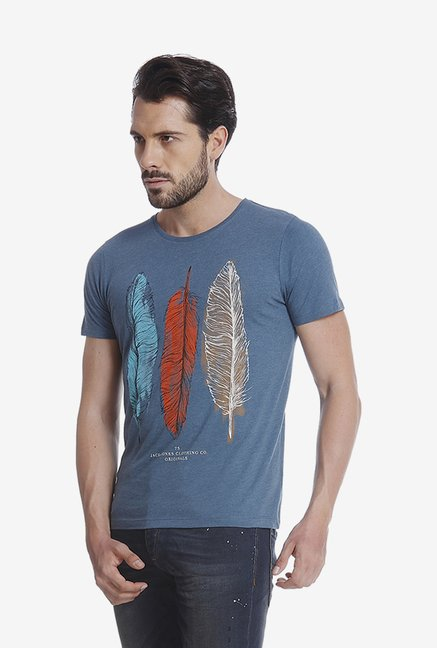 Jack & Jones Blue Graphic T Shirt