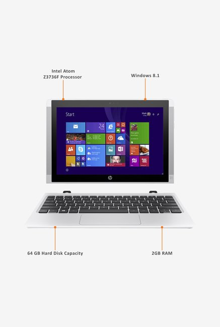 HP 10-N028TU 25.65cm Laptop (Intel Atom, 64 GB) White