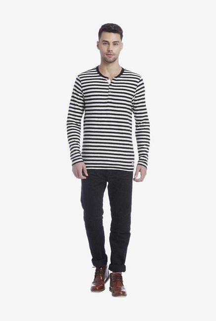 Jack & Jones Black Striped T Shirt