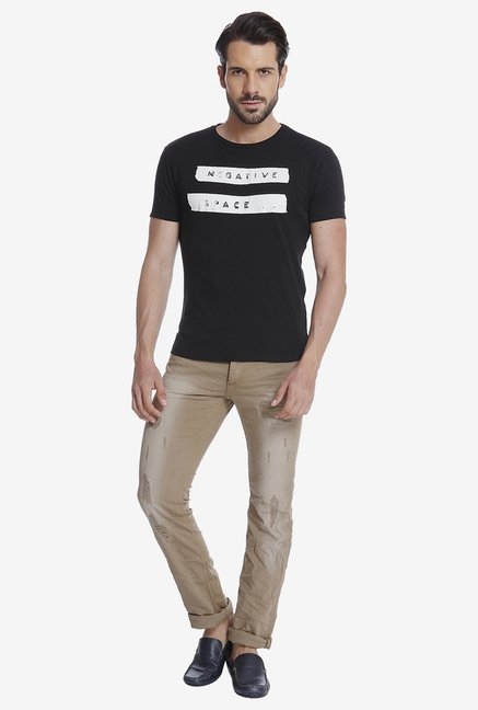 Jack & Jones Black Graphic T Shirt