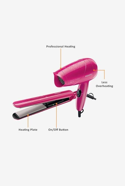 Philips HP8643/00 Dryer & Straightener Pink