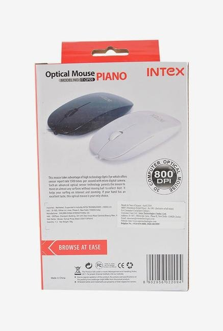 Intex  Piano Wired Mouse Black