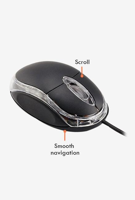 Intex  Little Wonder USB Mouse Black