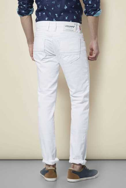 Lawman White Slim Fit Jeans